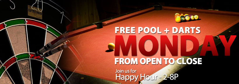 Free Pool & Darts Monday
