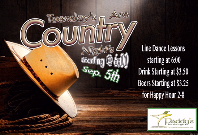 Tuesdays Country Line Dancing